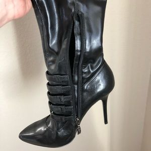 Guess knee high heel boots. Lightly worn